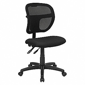 "Black Mesh Task Chair 17"" Back Height, Arm Style: No Arm"