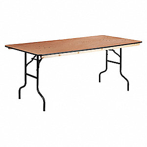 "Rectangle Folding Table, 30"" Height x 36"" Width, Natural"