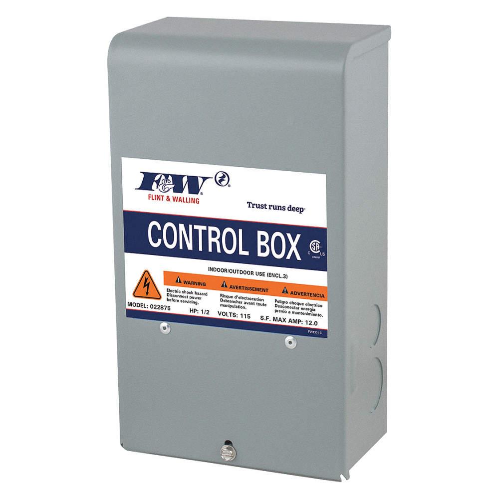 Submersible Motor/Pump Control Box, 230V, 3 2 Amps