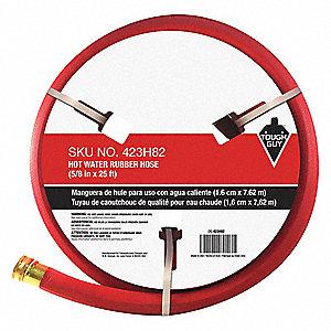 25 ft garden hose. Water Hose,Hot/Cold,Rubber,25 Ft.,Red 25 Ft Garden Hose