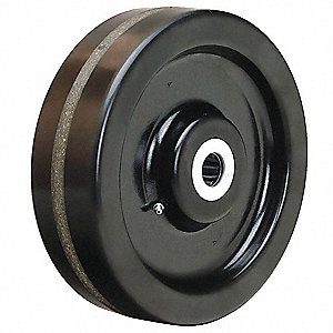 "10"" Caster Wheel, 2900 lb. Load Rating, Wheel Width 3"", Fits Axle Dia. 1"""