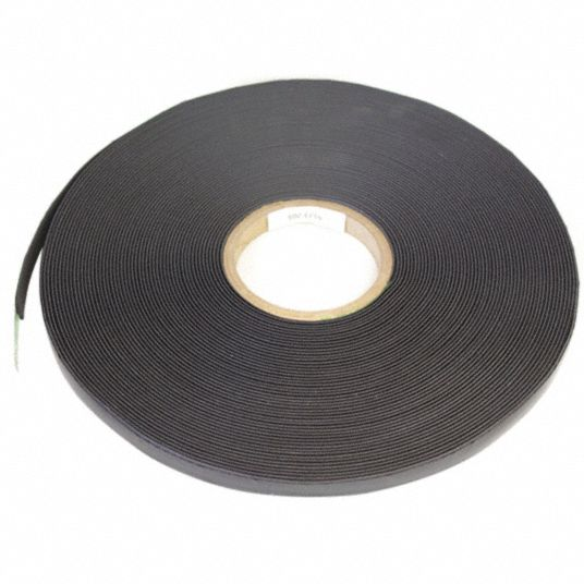Magnetic Strip,  Indoor/Outdoor Adhesive,  4 lb Max. Pull,  100 ft Length,  1/2 in Width