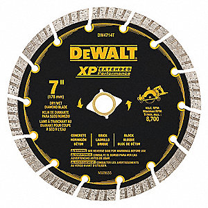 DEWALT WetDry Diamond Saw Blade TurboSegmented Rim Type - Dewalt wet saw pump