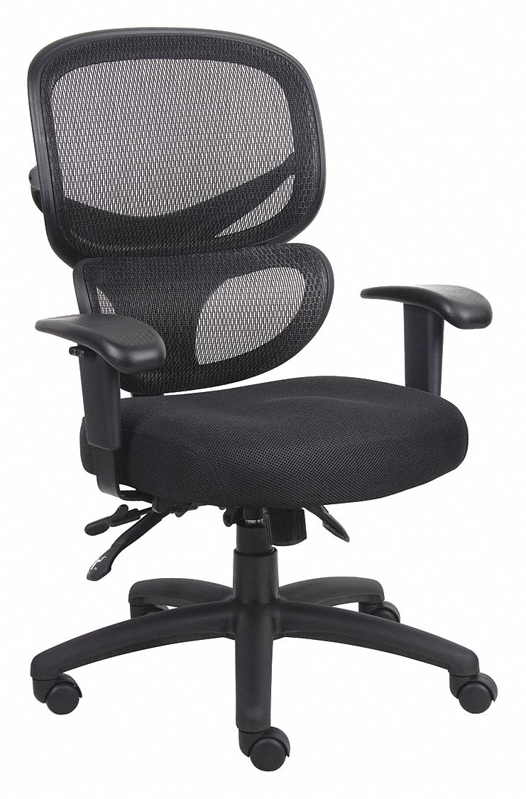 Task Chair,  Task Chair,  Black,  Mesh,  18 in to 21 in Nominal Seat Height Range