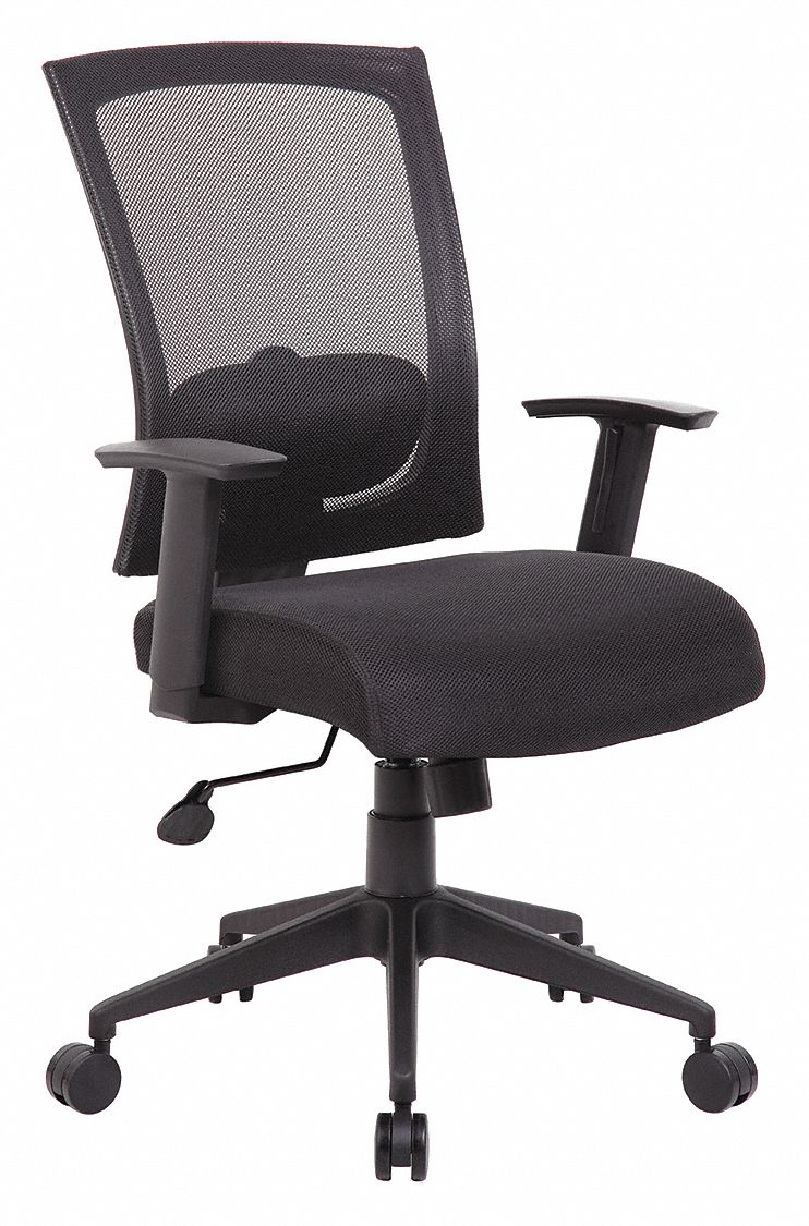 Task Chair,  Task Chair,  Black,  Mesh,  19 in to 22 in Nominal Seat Height Range
