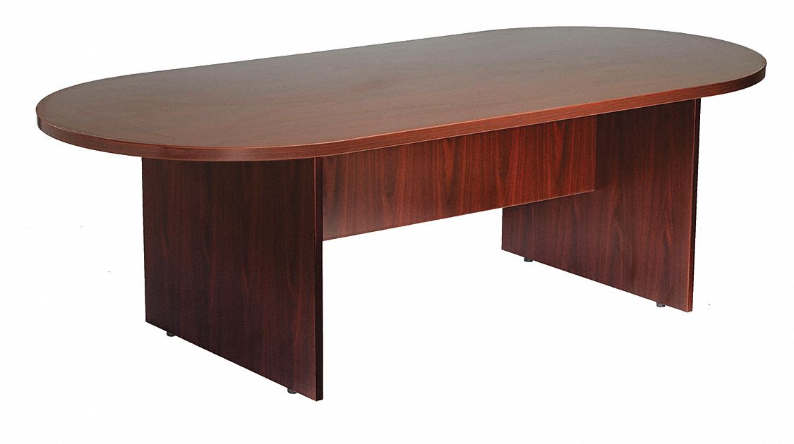 "Conference Table, Oval Shape, 35"" L, 71"" W"