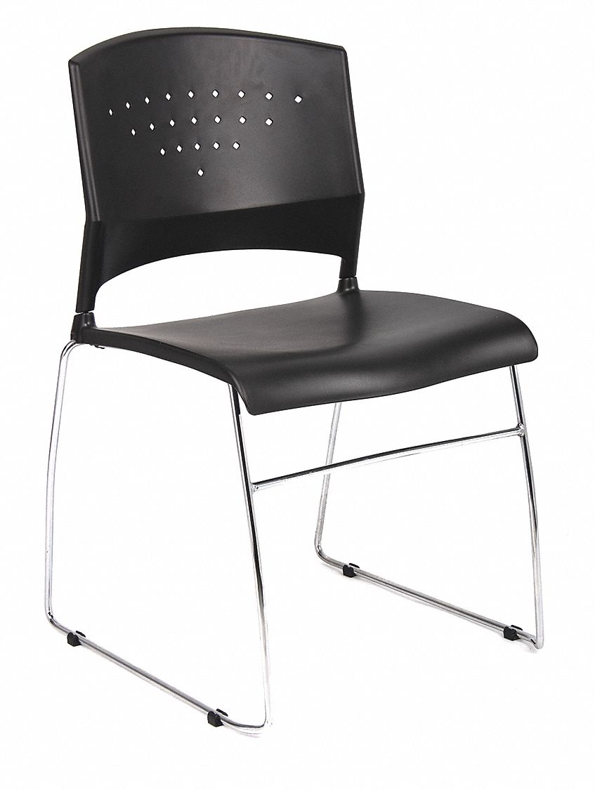 "Guest Chair, Silver Frame, Seat 18"" H, PK2"