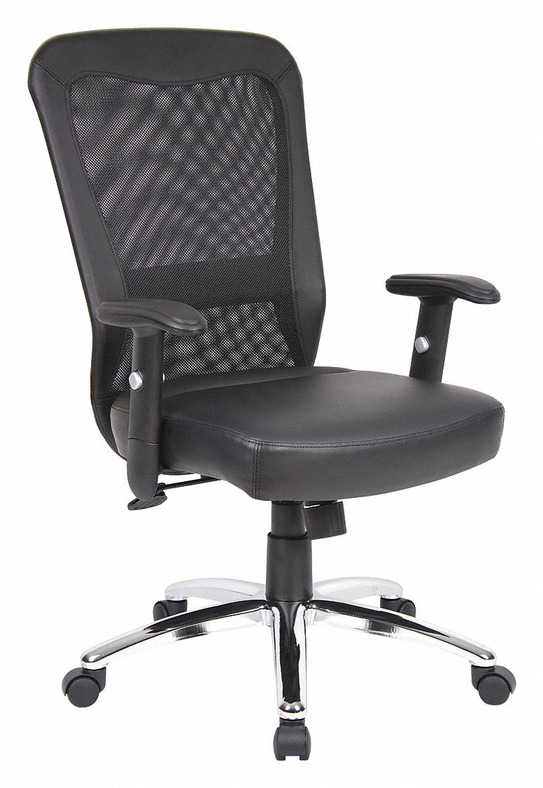 Executive Chair,  Executive Chair,  Black,  Mesh,  18 in to 21 in Nominal Seat Height Range