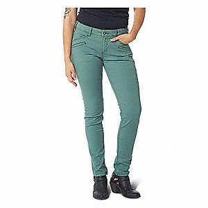 "Women's Defender Flex Pants. Size: 2, Fits Waist Size: 2, Inseam: 31-3/4"", Thyme"