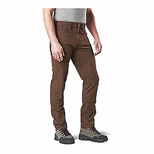 "Defender Slim Flex Pants. Size: 28"", Fits Waist Size: 28"", Inseam: 32"", Burnt"