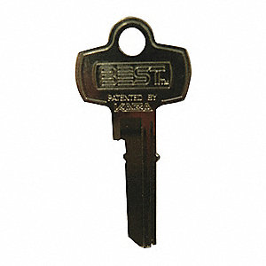Key Blank, For Use With Stanley Cores, B6, Brass