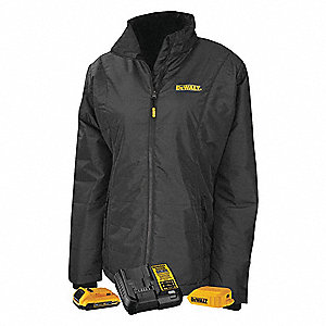 Womens Heated Clothing >> Dewalt Women S Black Heated Jacket Size M Battery Included Yes