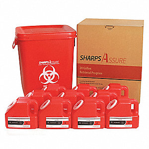 "Sharps Container,20""W,28 gal.,Snap Lid"