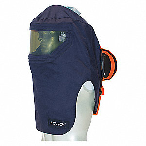 Navy Arc Flash Hood, Size: Universal, 8.0 cal./cm2 ATPV Rating, Hazard Risk Category (HRC) 2