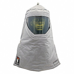Gray Arc Flash Hood, Size: Universal, 40.0 cal./cm2 ATPV Rating, Hazard Risk Category (HRC) 4