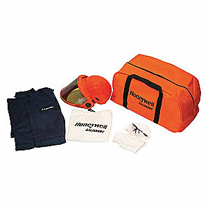 8.0 cal./cm2 Arc Flash Protection Clothing Kit, 2-HRC, Navy, 4XL