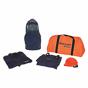 8.0 cal./cm2 Arc Flash Protection Clothing Kit, 2-HRC, Navy, XL
