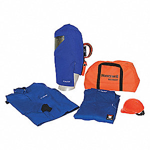31.0 cal./cm2 Arc Flash Protection Clothing Kit, 3-HRC, Royal Blue, S