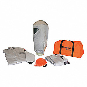40.0 cal./cm2 Arc Flash Protection Clothing Kit, 4-HRC, Gray, 5XL
