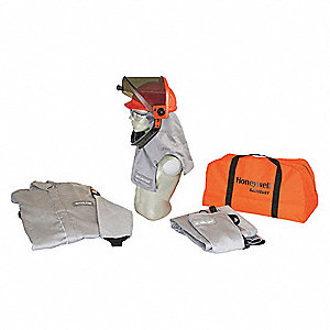 40.0 cal./cm2 Arc Flash Protection Clothing Kit, 4-HRC, Gray, M