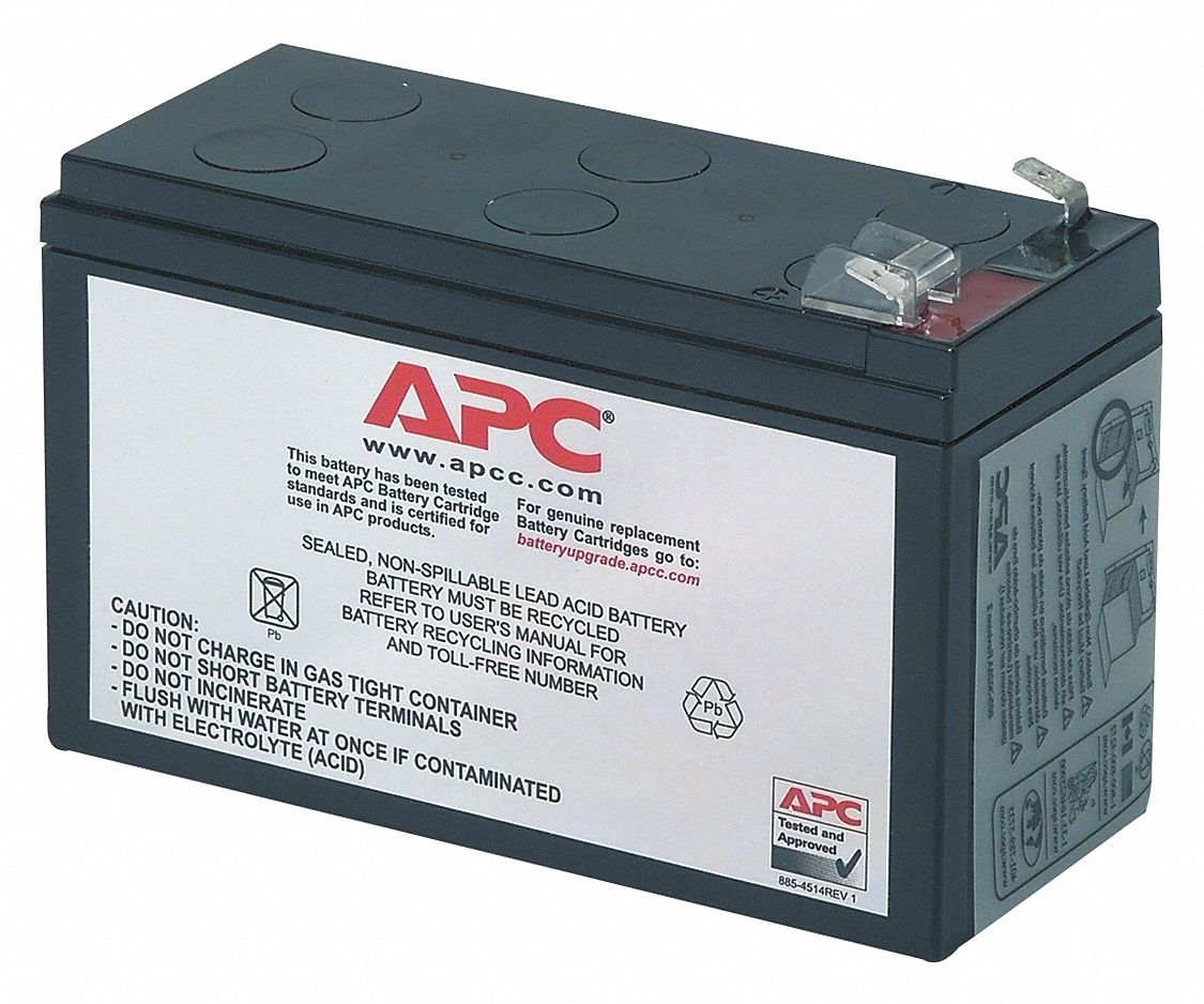 Replacement UPS Battery For BE650R, BE750G, Mfr. No. BE650G, ['12V DC' '110V AC']