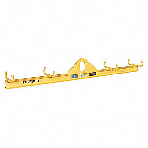 "Basket Sling Lifting Beam, 1000 lb., Max. Spread 48"", Min. Spread 48"", Headroom 8-1/2"""