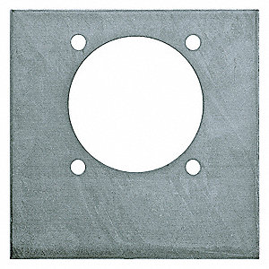 "Support Plate , Zinc Coated, 6""L, 7/64""H"