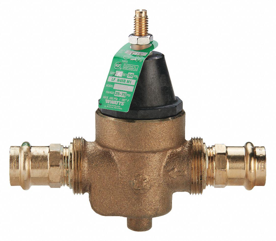 Watts Regulator Water Pressure Reducing Valve Standard Valve Type Lead Free Copper Silicon Alloy 3 4 In Pipe Size 429j14 3 4 Lfn45bm1 Press Grainger