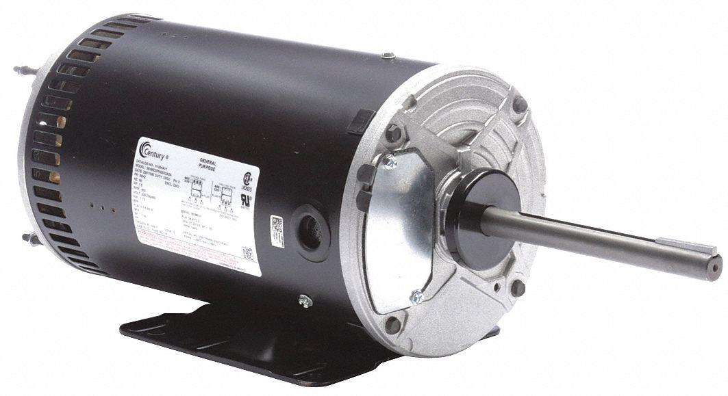 Century Condenser Fan Motor 1 1 2 Hp 3 Phase Nameplate Rpm 850 705 No Of Speeds 2 429j45 H1054av1 Grainger