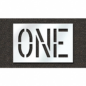 "Pavement Stencil, One, 18"", Polyethylene, 1 EA"