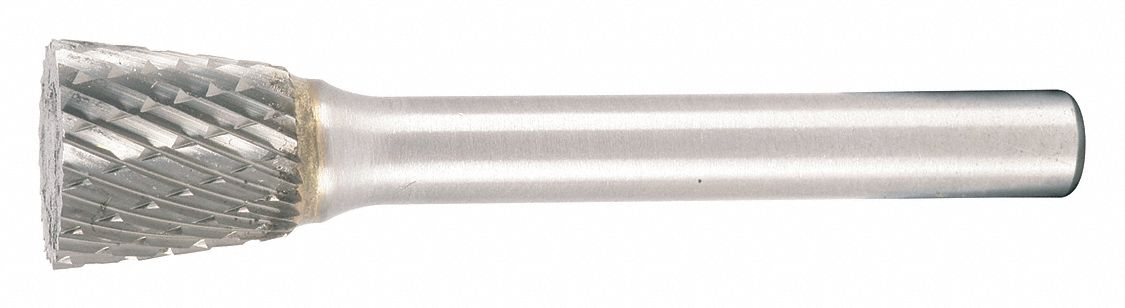 Inverted Taper SN-7 1//4 x 3//4 x 5//8 x 2 3//8 Carbide Burr Single Cut