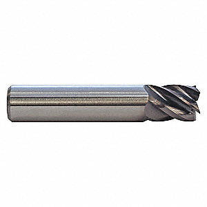 "Square End Mill,3/4"" Dia.,1-1/2"" Cut"