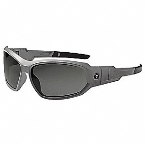 Safety Glasses/Goggles, Gray, Smoke Lens