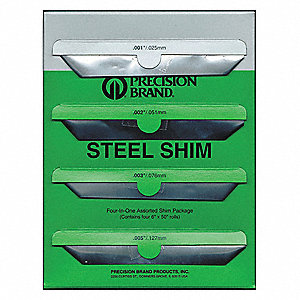 Steel Shim Stock Sheet Assortment, 1008-1010 Grade
