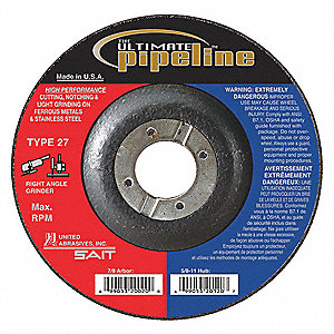 Abrasive Pipeline Wheel,9 in. Dia,Coars