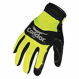 Mechanics Gloves,M,High Vis Ylw/Black,PR