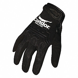Mechanics Gloves,S,Black,Neoprene,PR