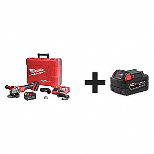 "5"" M18™ FUEL™ Cordless Angle Grinder Kit, 18.0 Voltage, 8500 No Load RPM, Battery Included"