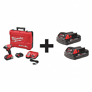 Cordless Impact Driver Kit,5.0Ah,Add Bat