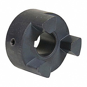 "L100 1-1/8"" Sintered Iron Jaw Coupling Hub, Keyway: Yes"