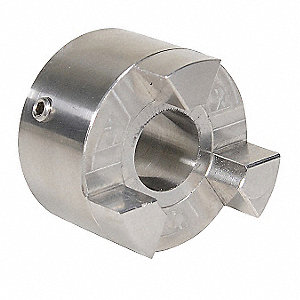 "SS095 1/2"" Stainless Steel Jaw Coupling Hub, Keyway: Yes"
