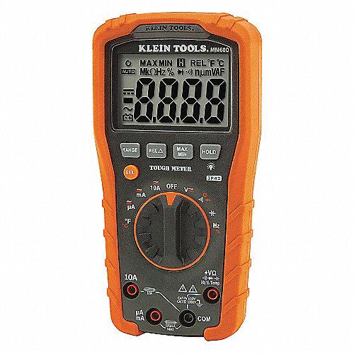 Multímetro Digital, 4000 Conteos, Precisión ±0.5%, Promedio, Amperes Máx. CA 10, Voltios Máx. CA 1000