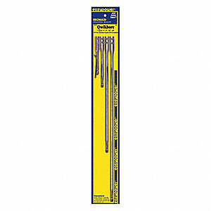 "1/4"" Hex Shank Extension Set, 4"", 6"", 12"", 18"" Length, For Use With: Cordless Drills"