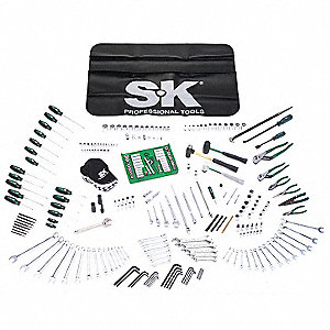 SAE and Metric Master Tool Set, Number of Pieces: 260, Primary Application: Mechanic
