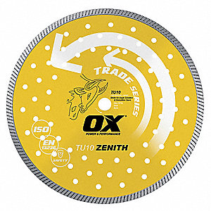 "12"" Wet/Dry Diamond Saw Blade, Continuous Rim Type"