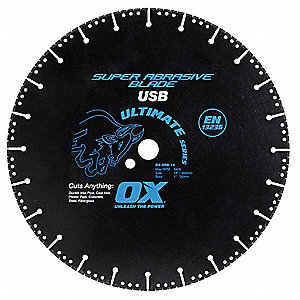 "5"" Wet/Dry Diamond Saw Blade, Segmented Rim Type, Application: Fire Rescue"