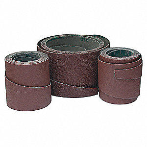 Sanding Belt, 7-29/32  Length, 6-1/2  Width, Aluminum Oxide, 80 Grit, Medium, Coated, PK4