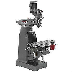 Step Pulley Milling Machine,  Step Pulley R8,  9 x 42 Table Size (In.)