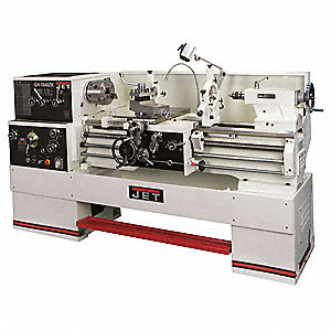 Jet Lathe,5 To 7-1/2HP,3P,40 Center In
