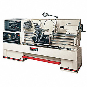Jet Lathe,7-1/2HP,3P,40 Center In